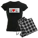 I Love U Women's Dark Pajamas