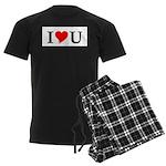 I Love U Men's Dark Pajamas