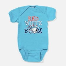 Snoopy - Red White & Boom Baby Bodysuit