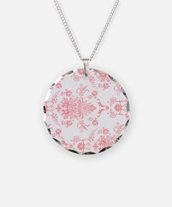 Pink Damask Necklace