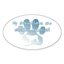 English Bulldog Grandchildren Oval Decal