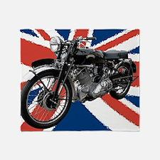 VIncent Motor Bike on Union Jack Throw Blanket
