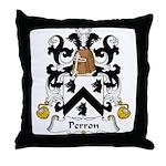 Perron Family Crest Throw Pillow