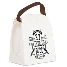 vintage dude aged 27 years Canvas Lunch Bag