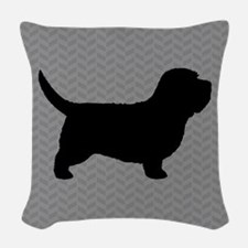 PBGV Silhouette Woven Throw Pillow