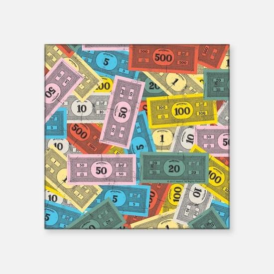 """Monopoly logo Square Sticker 3"""" x 3"""""""