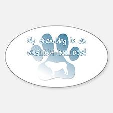 English Bulldog Granddog Oval Decal