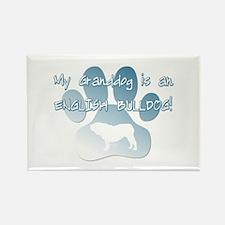 English Bulldog Granddog Rectangle Magnet (10 pack