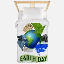 Earth day recycling Twin Duvet