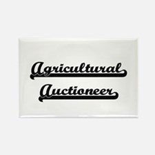 Agricultural Auctioneer Artistic Job Desig Magnets