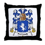 Perrault Family Crest  Throw Pillow