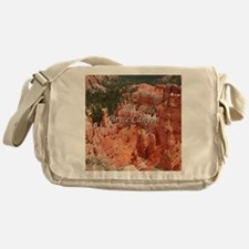 Bryce Canyon, Utah, USA 16 (caption) Messenger Bag