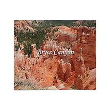 Bryce Canyon, Utah, USA 16 (caption) Throw Blanket