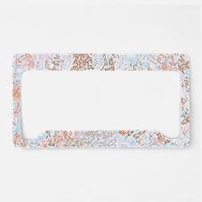 Pastel Marble License Plate Holder
