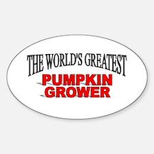 """The World's Greatest Pumpkin Grower"" Decal"
