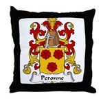 Peronne Family Crest Throw Pillow
