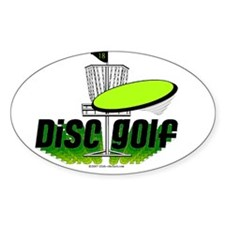 Dics Golf Oval Decal