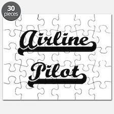 Airline Pilot Artistic Job Design Puzzle