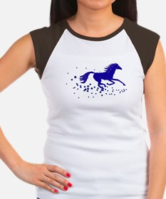 Blue Stars Pony Women's Cap Sleeve T-Shirt