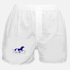 Blue Stars Pony Boxer Shorts