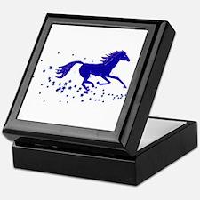 Blue Stars Pony Keepsake Box