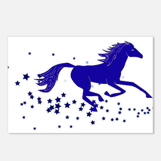 Blue Stars Pony Postcards (Package of 8)
