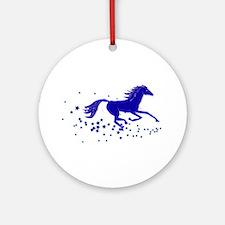 Blue Stars Pony Ornament (Round)