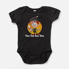 Cartoon Graduate Boy Baby Bodysuit