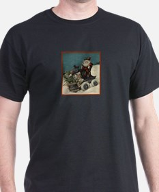 St. Nick on Train T-Shirt
