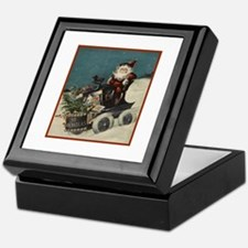 St. Nick on Train Keepsake Box