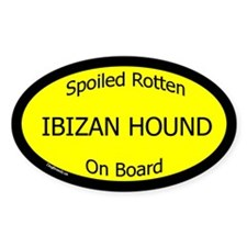 Spoiled Ibizan Hound On Board Oval Decal