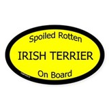 Irish terrier stickers Bumper Stickers