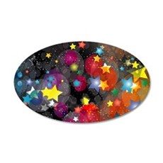 Party Stars Decorations Patt 20x12 Oval Wall Decal