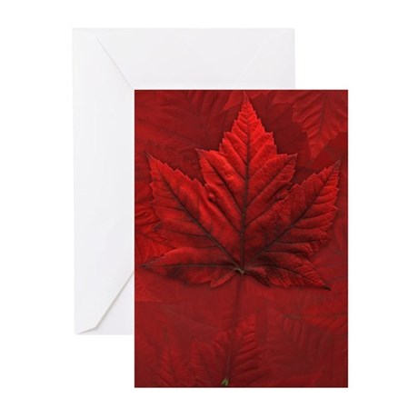 Canada Maple Leaf Souvenir Greeting Cards 20 pack