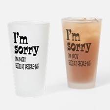 Not Good People-ing Drinking Glass