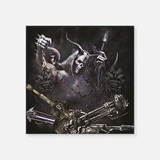 """Grim Reaper  Square Sticker 3"""" x 3"""""""