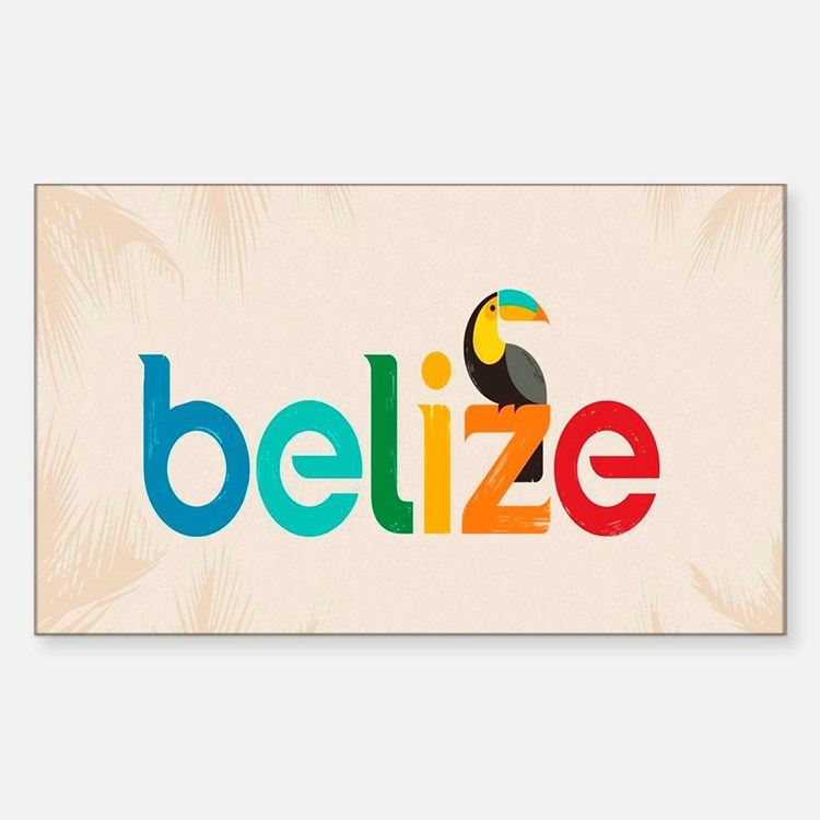 Belize Sticker (Rectangle)