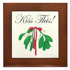 KISS THIS Framed Tile