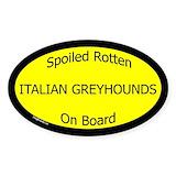 Dog cars italian greyhounds Single