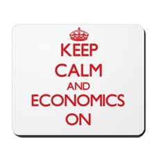 Keep Calm and Economics ON Mousepad