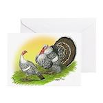 Narragansette Turkey Pair Greeting Cards (Pk of 10