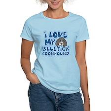 I Love my Bluetick Coonhound T-Shirt