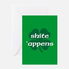 SHITE APPENS Greeting Card