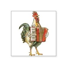 Accordian Playing Chicken Sticker