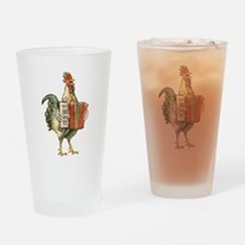 Accordian Playing Chicken Drinking Glass