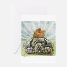 The Chicken and the Dog Greeting Cards