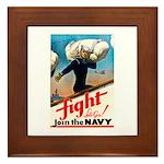 Join the Navy Framed Tile