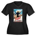 Join the Navy (Front) Women's Plus Size V-Neck Dar