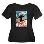 Join the Navy (Front) Women's Plus Size Scoop Neck