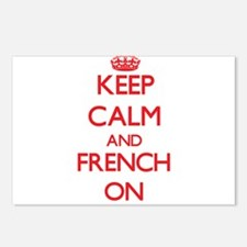 Keep Calm and French ON Postcards (Package of 8)